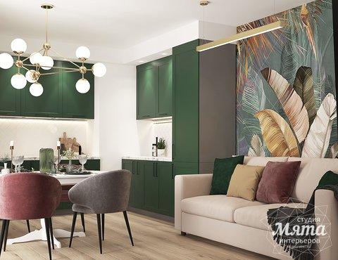 Дизайн интерьера однокомнатной квартиры ЖК Цветной Бульвар